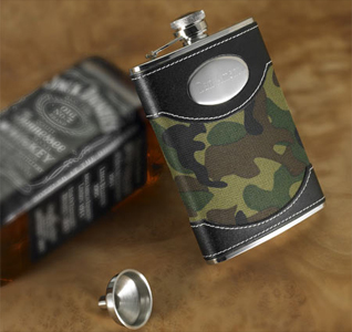 Green Camouflaged Flask