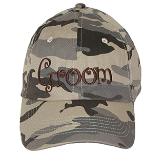 Groom Camouflage Hat