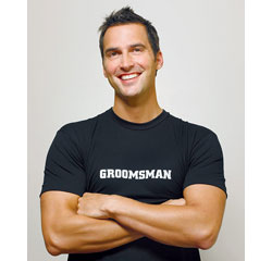 Groomsman Wedding T-Shirt Iron On