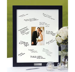 "Personalized Wedding Guest Book Picture Frame with Name Plate (18"" x 22"")"