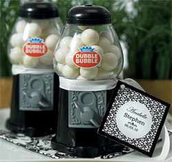 Classic Gumball Machine in Black Wedding or Party Gifts/ Favors