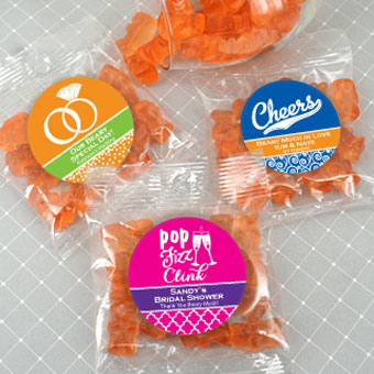 Champagne Gummy Bear Favors