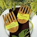 Hand in Hand Bamboo Wedding Cake Knife and Serving Set