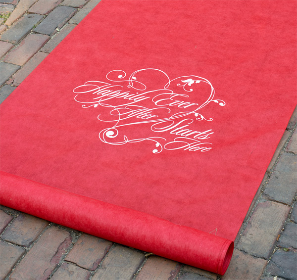 happily ever after wedding aisle runner red