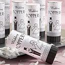 Have a Blast! Celebratory Black and White Wedding Poppers with Bride and Groom