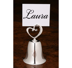 Heart Bell Place Card Holder