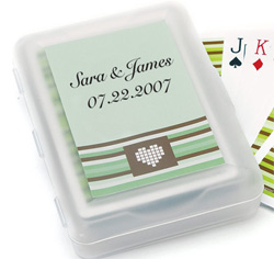 "Contemporary ""Heart Strings"" Personalized Wedding Favor Stickers"