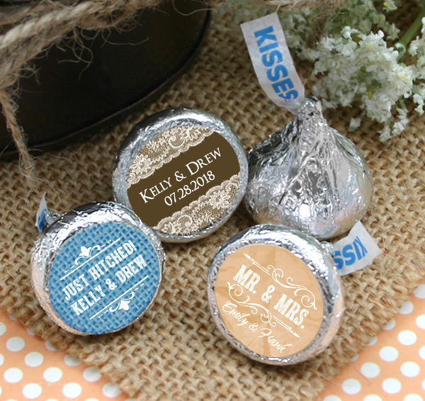 Personalized Hershey S Kisses Favors Silhouette Designs