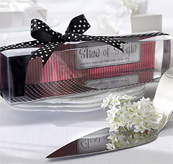 Slice of Style Stainless Steel High Heel Wedding or Birthday Cake Server