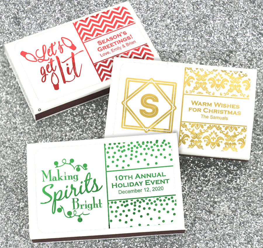 Holiday Matchbox Favors | Personalized Matchbox Holiday Favors