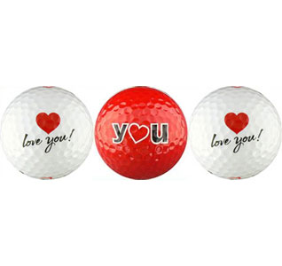 I Love You Golf Balls For Husband Wedding Gift for Groom