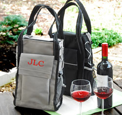 Personalized Insulated Wine Cooler Tote Bag