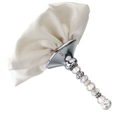 Ivory Beaded Bouquet Holder