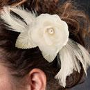 Ivory Flower and Feather