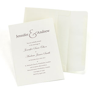Ivory Invitation Kit