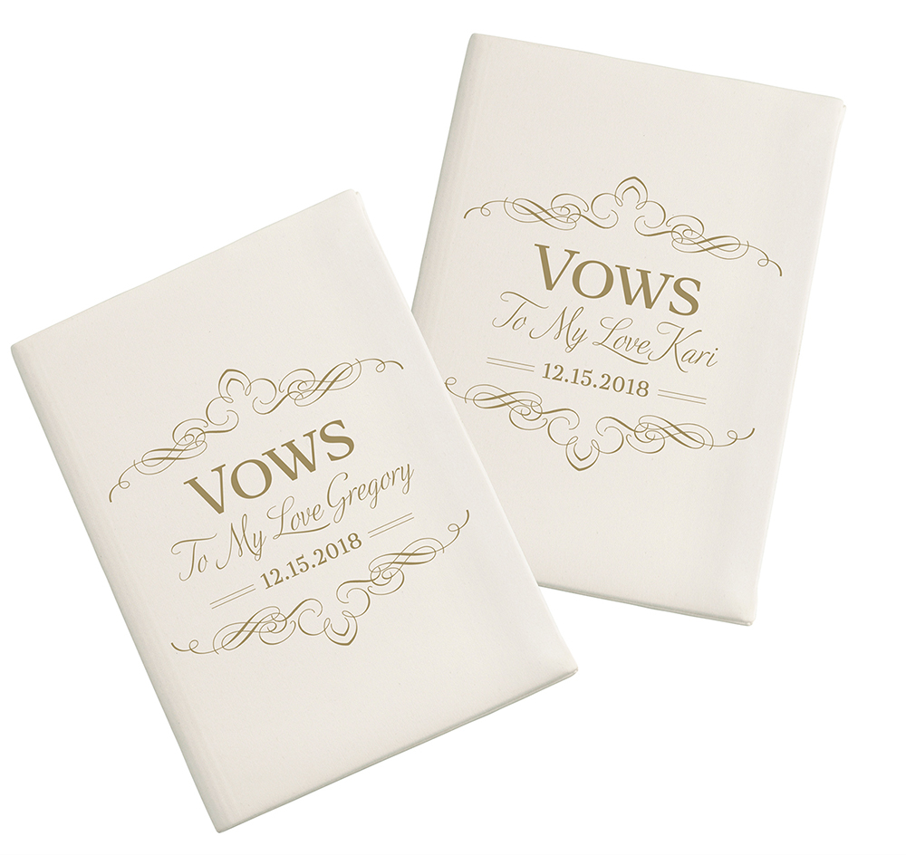 Ivory Wedding Vow Books
