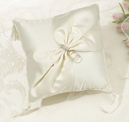 Ivory Sash Ring Pillow Ivory Ring Bearer Pillow Ivory