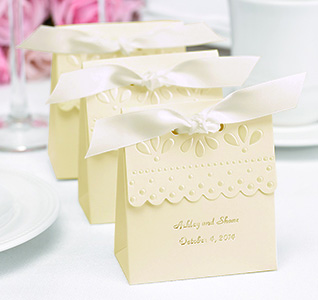 Ivory Scalloped Edge Favor Bo Personalized