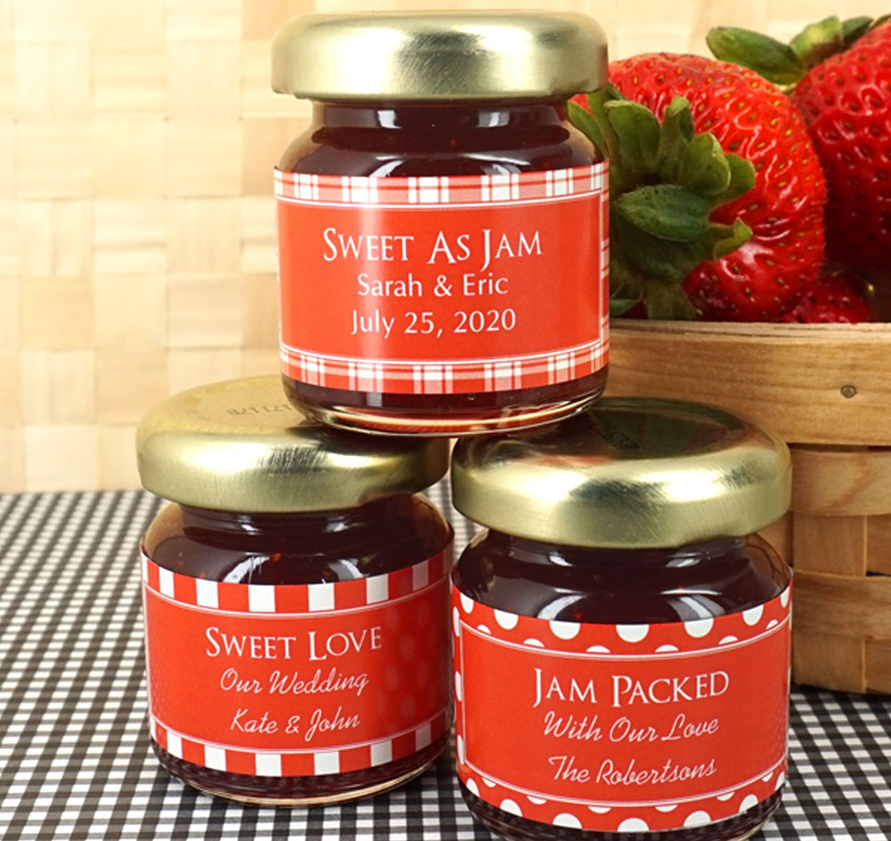 personalized jam jar favors silhouette collection jam wedding