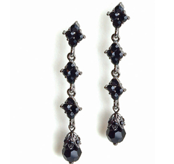 Jet Black Drop Earrings