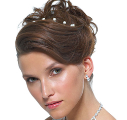 Jewel Hair Twists for Wedding or Prom Updo