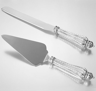 Crown Wedding Cake Serving Set