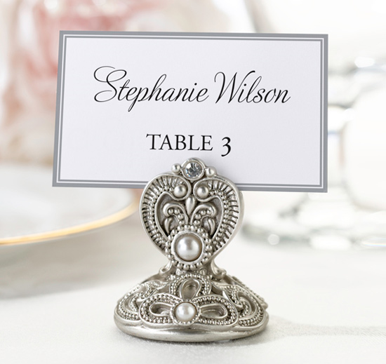 Jeweled Place Card Holders Set Of 4