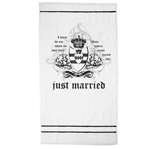 Groom Just Married Honeymoon Beach Towel