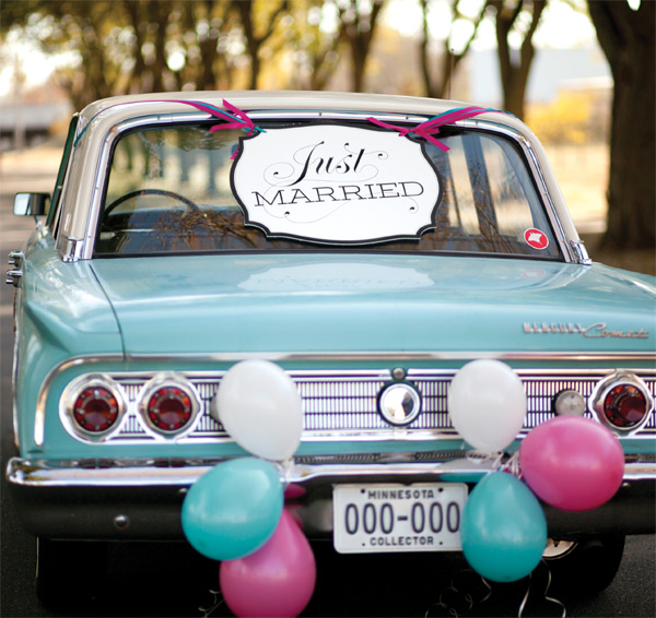 Just Married Car Sign Just Married Car Decorations
