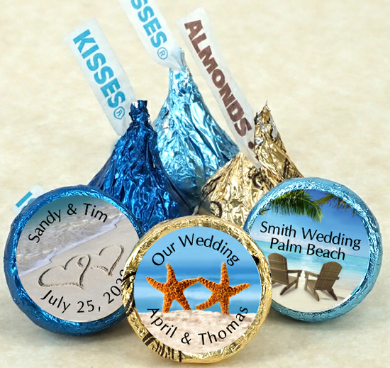Personalized Hersheys Kisses Favors Hersheys Kisses Wedding Favors
