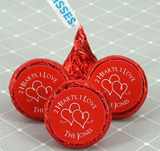 Personalized Hersheys Kisses Favors Silhouette Designs