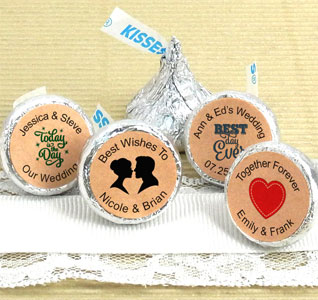 Hershey S Kisses Favors Kraft Designs
