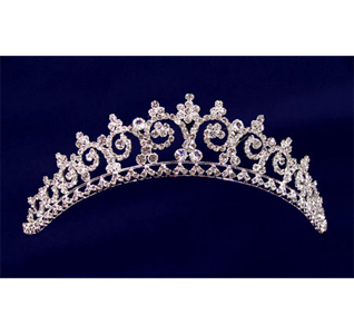 Large Rhinestone Wedding Tiara For Bride