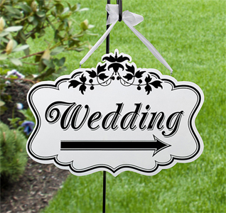 Black and White Wedding Sign