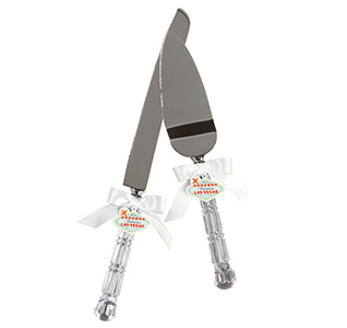 Las Vegas Wedding Cake Knife and Server Set