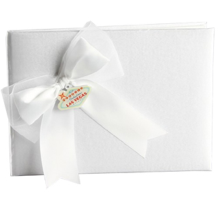 Las Vegas White Wedding Guest Book