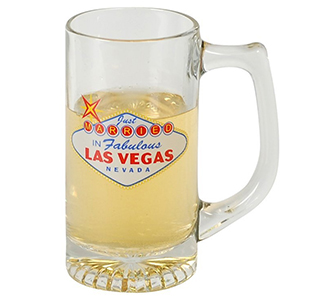 Las Vegas White Wedding Groomsmen/ Bestman Beer Mug Wedding Party Gift