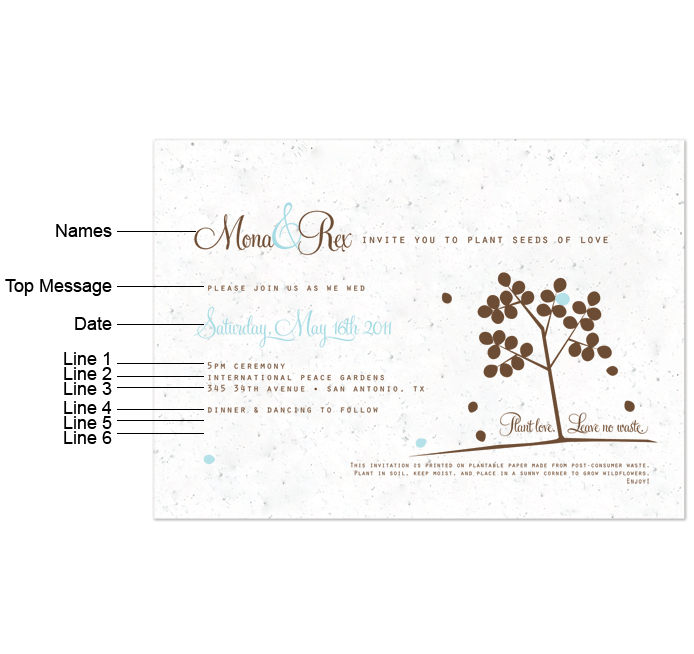 2001 2017 the wedding outlet - Plantable Wedding Invitations