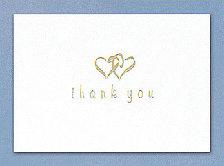 Linked at the Heart Thank You Cards
