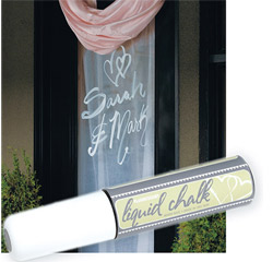 Liquid Chalk Wedding Window Marker