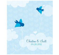 A Little Bird Told Me Personalized Rectangular Wedding Label