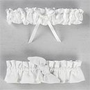 Love Knot White or Ivory Wedding Bridal Garter and Tossing Garter Set
