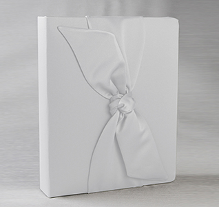 Love Knot White or Ivory Wedding Memory Book