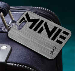 MINE Steel Luggage Tag
