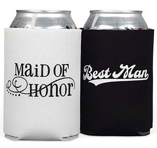 Maid of Honor/Best Man Koozies