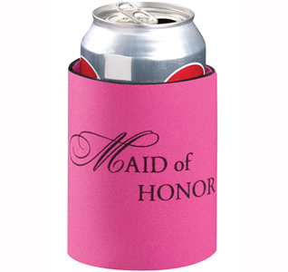 Maid of Honor Wedding Party Can Koozie Gift