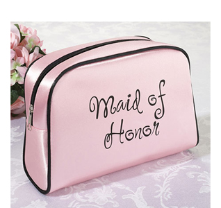Maid of Honor Pink Travel Cosmetic Bag