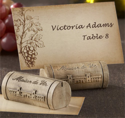 Maison du Vin Wine Cork Wedding or Party Place Card/ Photo Holder