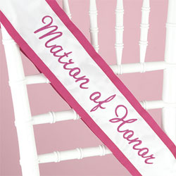 Matron of Honor Sash