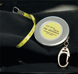 Measuring Tape Personalized Wedding Favor Keychain